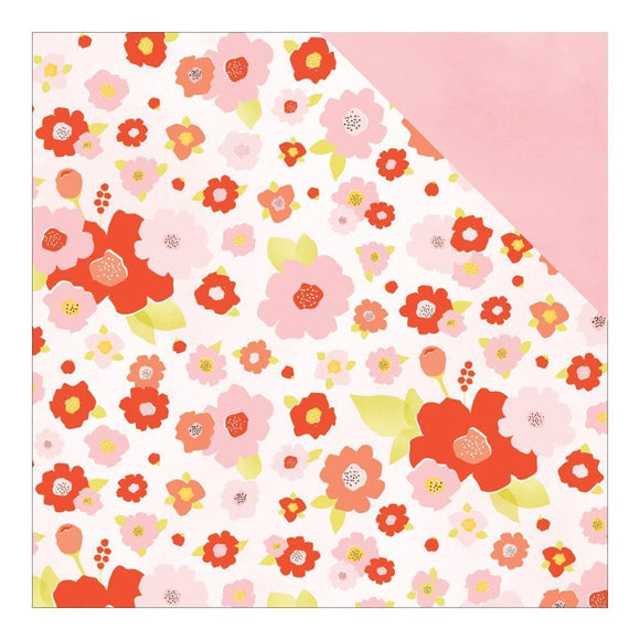 Scrapbooking  Fine and Dandy Paper Peonies Paper 12x12 Paper Collections 12x12