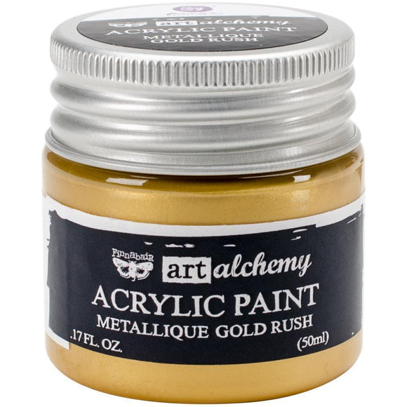Scrapbooking  Finnabair Art Alchemy Acrylic Paint 1.7 Fluid Ounces - Metallique Gold Rush Paper Collections 12x12