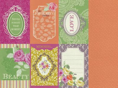 Scrapbooking  Flora Delight Reflections Paper Collections 12x12