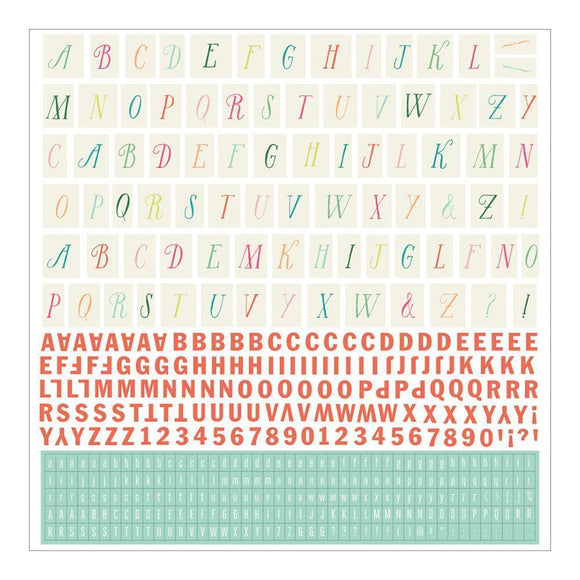 Scrapbooking  Fresh Cut Alphabet Sticker Sheet Paper Collections 12x12