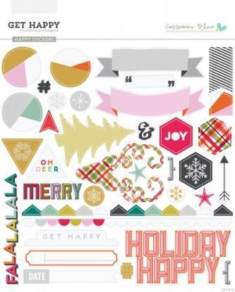Scrapbooking  Get Happy Stickers Paper Collections 12x12