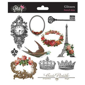 Scrapbooking  Glitz Designs French Kiss GLITZERS Paper Collections 12x12