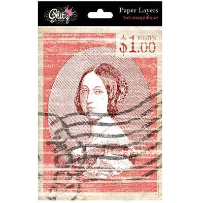 Scrapbooking  Glitz Designs French Kiss PAPER LAYERS Paper Collections 12x12