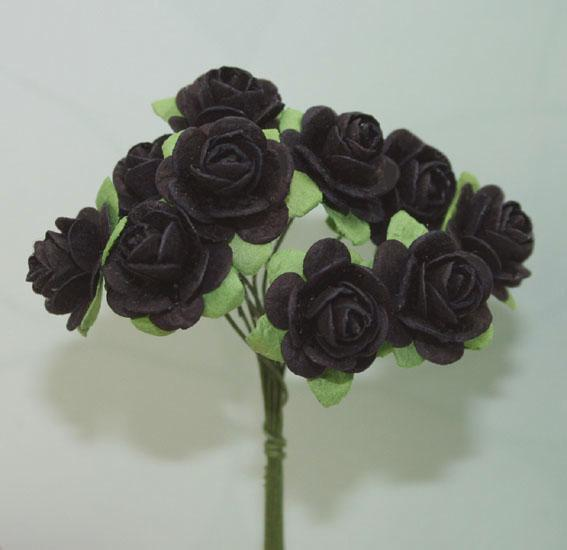 Scrapbooking  Green Tara 2cm Black Roses 10pc Paper Collections 12x12