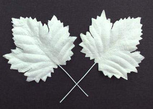 Scrapbooking  Green Tara White Maple Paper Leaves 10pc Paper Collections 12x12