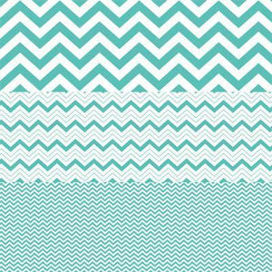 Scrapbooking  Hambly Screen Prints Antique Teal Chevron Mash Up Paper Collections 12x12