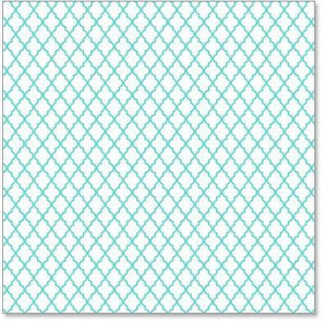 Scrapbooking  Hambly Screen Prints Lattice Teal Paper Collections 12x12