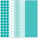 Scrapbooking  Hambly Screen Prints Mod Circles Overlay - Teal Blue Paper Collections 12x12