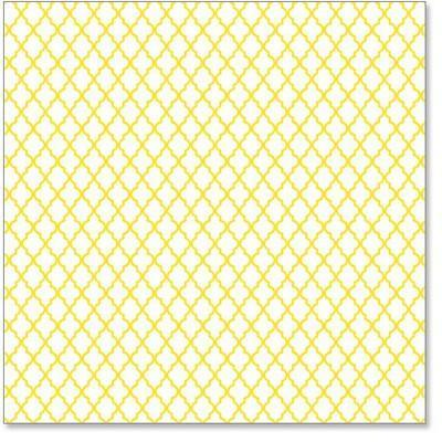 Scrapbooking  Hamby Screen Prints Yellow Lattice Paper Collections 12x12