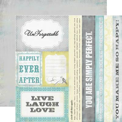 Scrapbooking  Happy Little Moments Happily Ever After Paper Collections 12x12