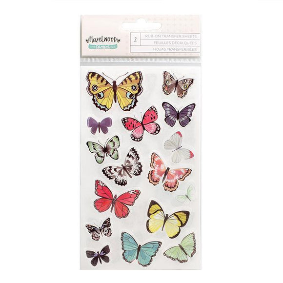 Scrapbooking  Hazelwood Butterfly Rubons Paper Collections 12x12