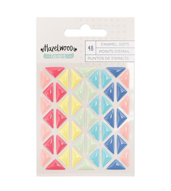 Scrapbooking  Hazelwood Enamel Shapes 48pk Paper Collections 12x12