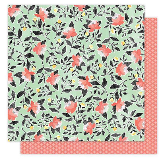 Scrapbooking  Hazelwood Roses Paper 12x12 Paper Collections 12x12