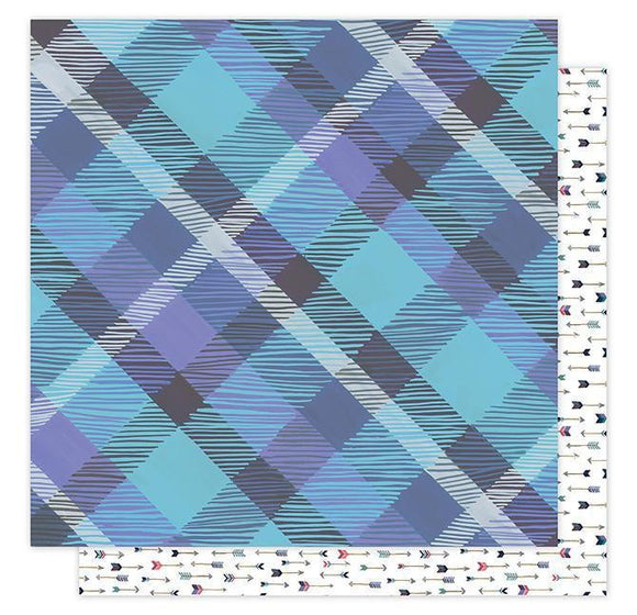 Scrapbooking  Hazelwood Woodland Plaid Paper 12x12 Paper Collections 12x12