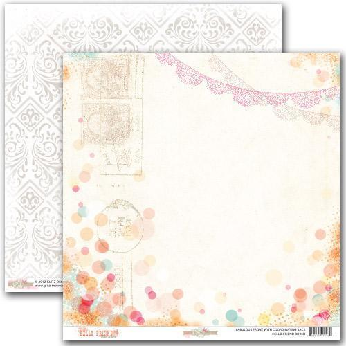 Scrapbooking  Hello Friend Bokeh Paper Collections 12x12
