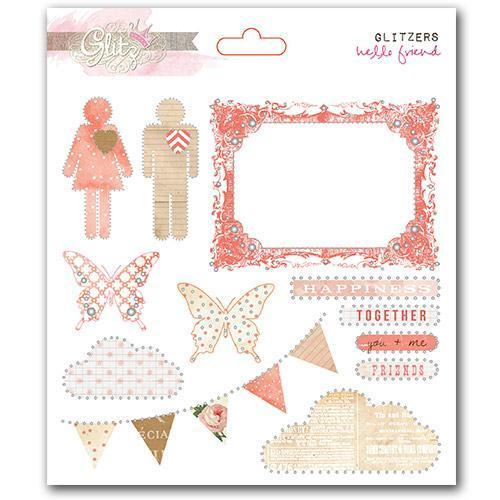 Scrapbooking  Hello Friend Glitzers Paper Collections 12x12