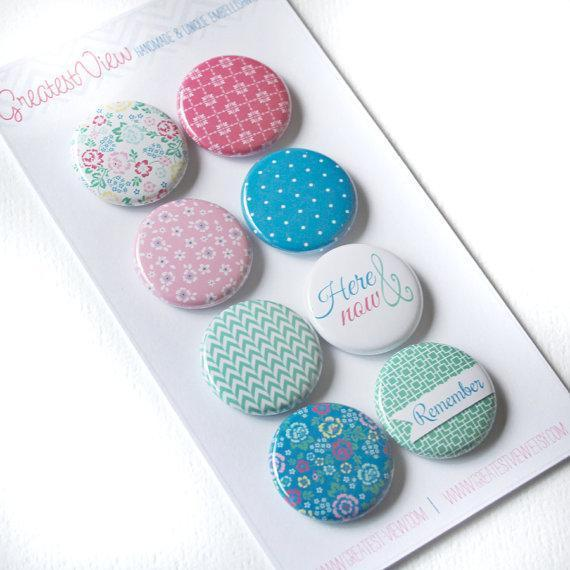 Scrapbooking  Here and Now Flair Badges (pk of 8) Paper Collections 12x12
