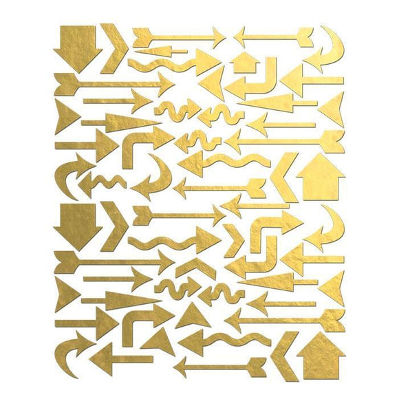 Scrapbooking  Holiday Cheer Gold Foil Arrow Stickers Paper Collections 12x12