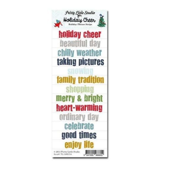 Scrapbooking  Holiday Cheer Holiday Phrase Strips Paper Collections 12x12