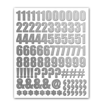 Scrapbooking  Holiday Cheer Silver Foil Numbers Stickers Paper Collections 12x12