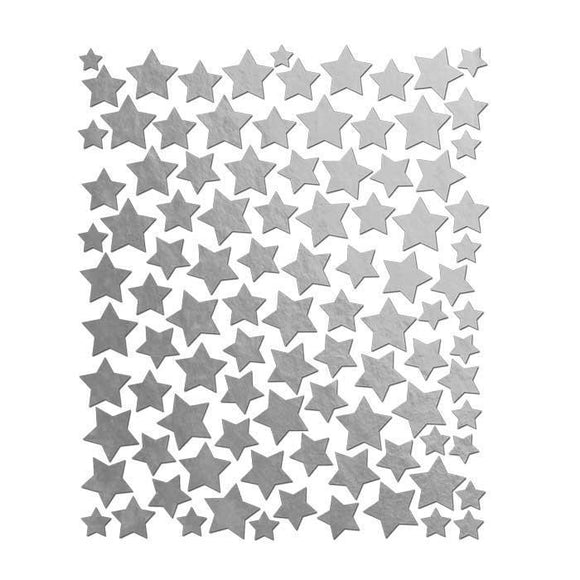 Scrapbooking  Holiday Cheer Silver Foil Star Stickers Paper Collections 12x12
