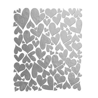 Scrapbooking  Holiday Cheer Silver Heart Stickers Paper Collections 12x12