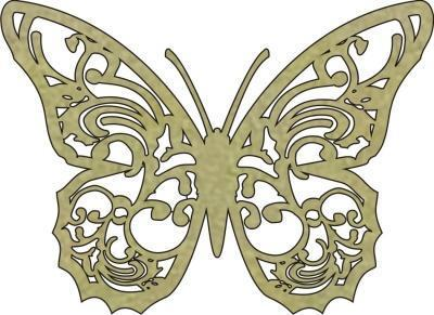 Scrapbooking  Imaginarium Butterfly with Cut out wings Paper Collections 12x12