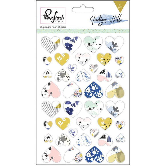 Scrapbooking  Indigo Hills Chipboard Heart Stickers 4x6inch Paper Collections 12x12