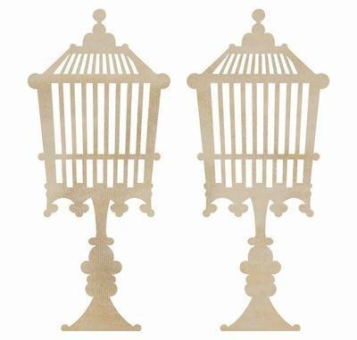 Scrapbooking  Kaisercraft Birdcage Standing Wood Flourish Paper Collections 12x12