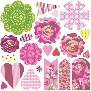 Scrapbooking  Kissing Booth Paper and Canvas Flowers Paper Collections 12x12