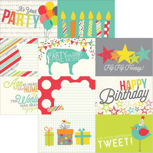 Scrapbooking  Lets Party 4x6 Horizontal Journalling Card Paper 12x12 Paper Collections 12x12