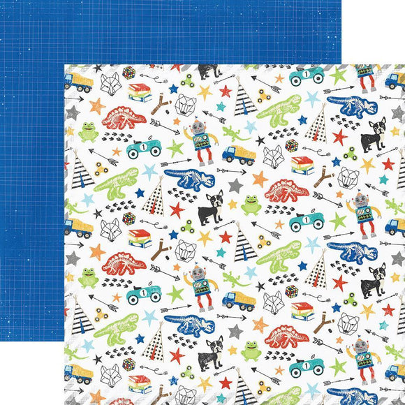 Scrapbooking  Lil' Dude Double-Sided Cardstock 12