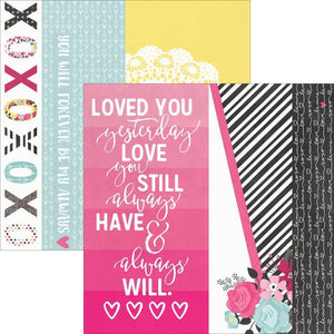 Scrapbooking  Love & Adore 2x12, 4x12 & 6x12 Page Elements Paper 12x12 Paper Collections 12x12