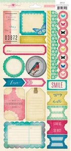 Scrapbooking  Maggie Holmes Labels and Border Stickers Paper Collections 12x12