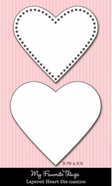 Scrapbooking  MFT Dienamics Layered Hearts Dies Paper Collections 12x12