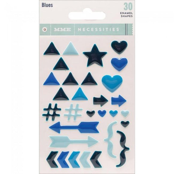Scrapbooking  MME Necessities Blue Enamel Shapes Paper Collections 12x12