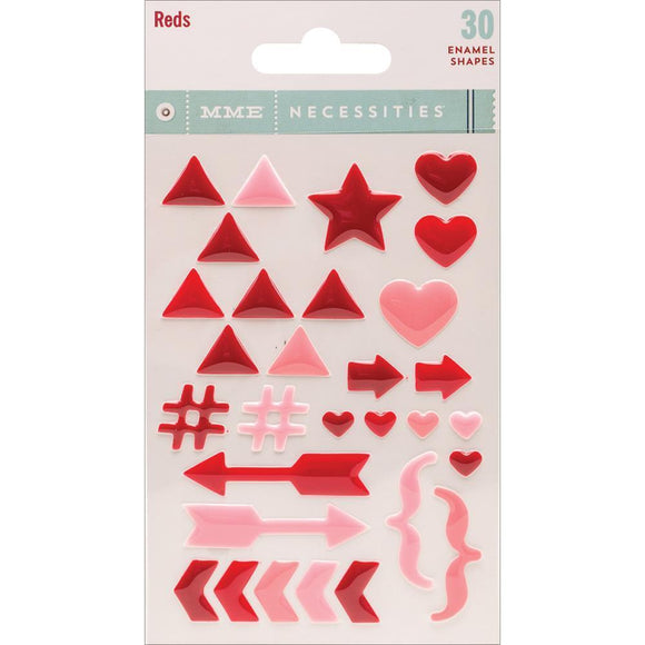 Scrapbooking  MME Necessities Red Enamel Shapes Paper Collections 12x12