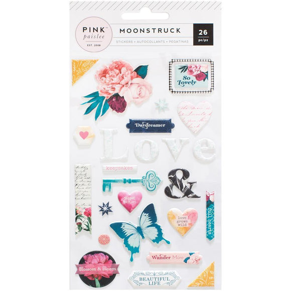 Scrapbooking  Moonstruck Puffy Stickers Paper Collections 12x12