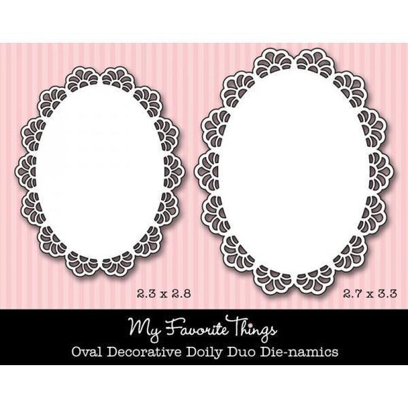 Scrapbooking  My Favorite Things Oval  Decorative Doily Duo Paper Collections 12x12