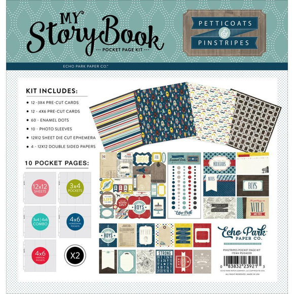 Scrapbooking  My Story Book Pocket Page Kit 12