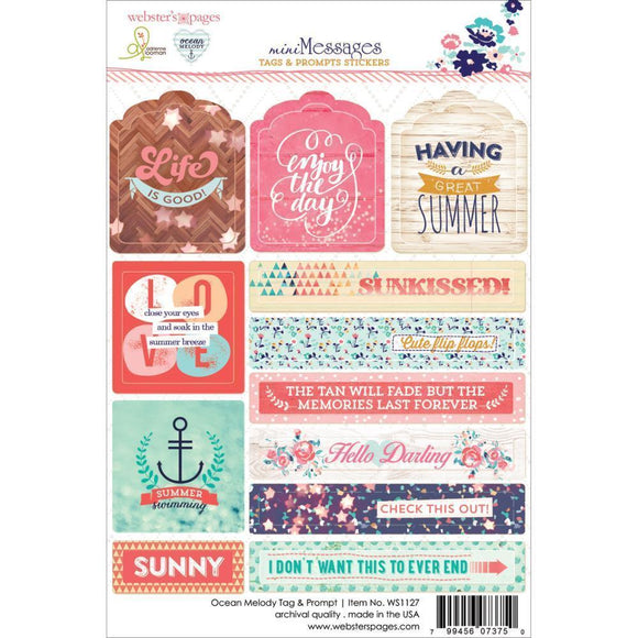 Scrapbooking  Ocean Melody tags and Prompt Stickers Paper Collections 12x12