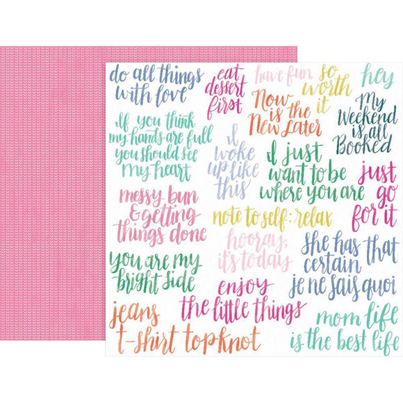 Scrapbooking  Paige Evans Oh My Heart Double-Sided Cardstock 12