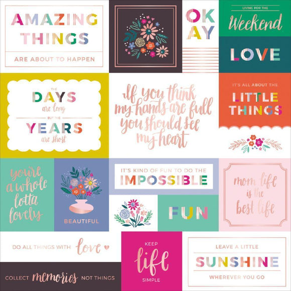 Scrapbooking  Paige Evans Oh My Heart Foiled Cardstock 12