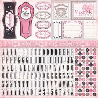 Scrapbooking  Paris Girl Alphabet Stickers Paper Collections 12x12