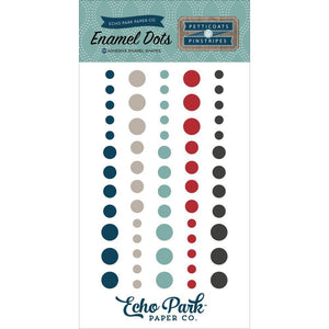 Scrapbooking  Petticoats and Pinstripes Boy Enamel Dots Paper Collections 12x12