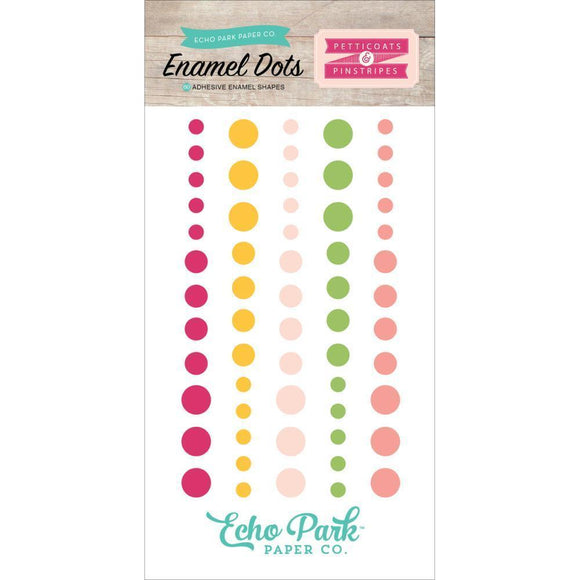 Scrapbooking  Petticoats and Pinstripes Girl Enamel Dots Paper Collections 12x12