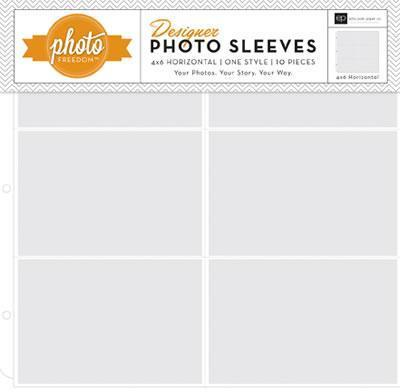 Scrapbooking  Photo Freedom Photo Sleeves 4x6 Horizontal 10pk Paper Collections 12x12