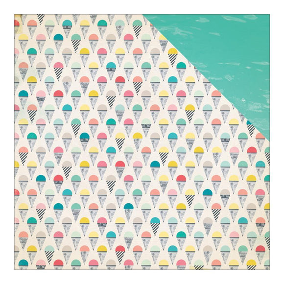 Scrapbooking  Poolside Snow Cones Paper 12x12 Paper Collections 12x12