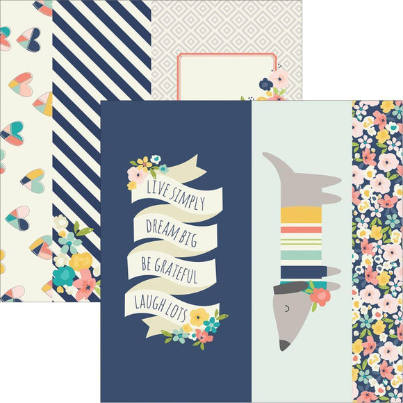 Scrapbooking  Posh 2x12 & 4x12 & 6x12 Journalling Card Elements 12x12 Paper Collections 12x12