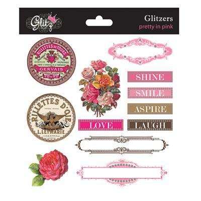 Scrapbooking  Pretty in Pink Glitzers Paper Collections 12x12
